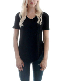 On The Go Ribbed V-Neck Tee