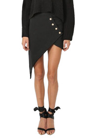 Beck Asymmetrical Button Skirt