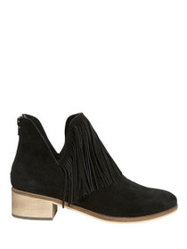Laure Suede Leather Fringe Bootie