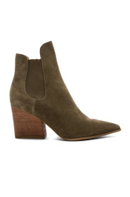 Finley Suede Pointed Toe Block Heel Ankle Boot