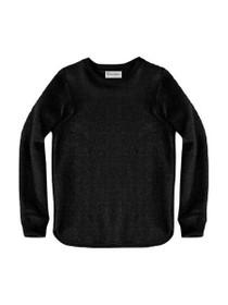 Luxe Crew Neck Raw Edge Sweatshirt