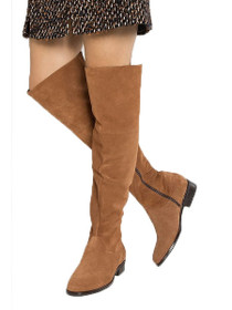 Mille Suede Leather Over Knee Boot