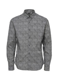 Broker Long Sleeve Slim Button Down Shirt