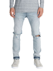 Joe Blow Destroyed Denim In Smooth Blue