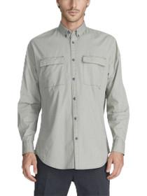 Patch Rugger Long Sleeve Button Down Shirt