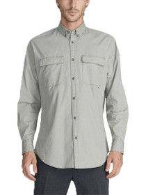 Patch Rugger Long Sleeve Button Down Shirt