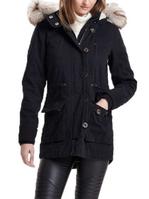 Costa Faux Fur Hooded Parka Jacket