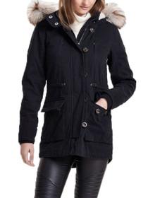 Costa Faux Fur Hooded Parka Jacket