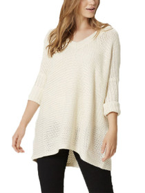 Vera 3/4 Sleeve V-Neck Knit Top
