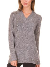 Safina Long Sleeve V-Neck Knit Blouse