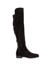 Anne Suede Leather Fringe Over The Knee Boot
