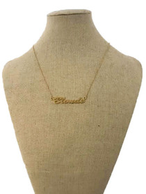 Blonde Pendant Necklace