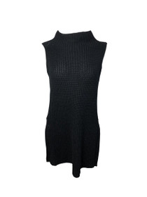 Fall Over Sleeveless Mock Neck Knit