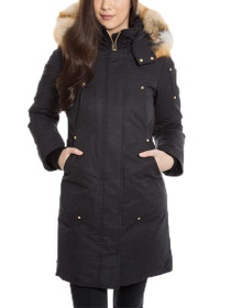 Fond Du Lac Gold Accented Parka With Fur Hood