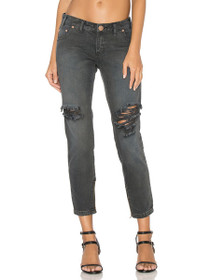 Freebirds Distressed Boyfriend Denim in St. Rebel