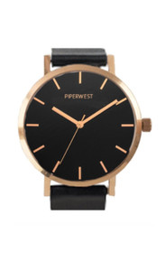 Classic Minimalist Watch in Rose Gold/Black/Black