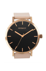 Classic Minimalist Watch in Rose Gold/Black/Blush