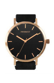 Classic Minimalist Watch in Rose Gold/Black/Black Suede