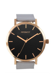 Classic Minimalist Watch in Rose Gold/Black/Grey