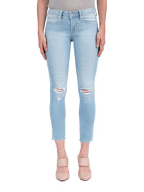 Carly Crop Skinny Denim in Devil