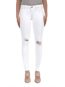 Sarah Distressed Denim in White Hall