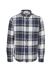 Callee Long Sleeve Plaid Shirt