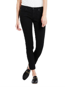 The Legging Ankle Raw Edge Skinny Denim in Black Ink