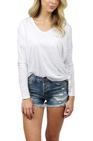 Little Bit Side Tie Long Sleeve Tee