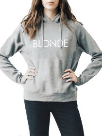 Exclusive* Printed Blonde Middle Sister Hoodie in Grey