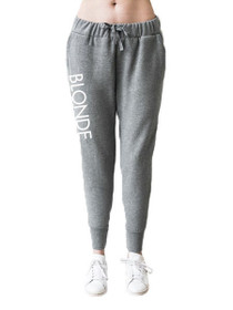 Exclusive* Printed Blonde Middle Sister Jogger in Grey