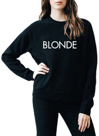 Printed Middle Sister Blonde Crew
