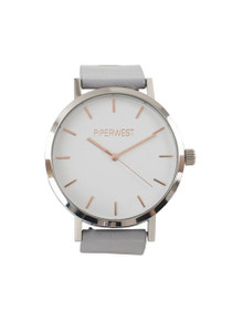 Duo Minimalist Watch in Grey/Silver/Rose Gold