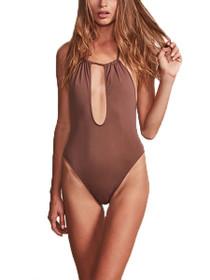 Bardot Key Hole Halter One Piece Swimsuit