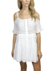 Marla Cold Shoulder Crochet Shift Dress