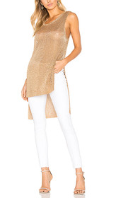 Metallic Knit Tunic Tank