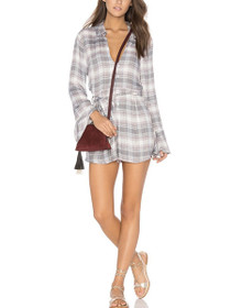 Distant Mornings Long Sleeve Playsuit