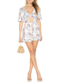 Mysterious Cut-Out Short Sleeve Playsuit