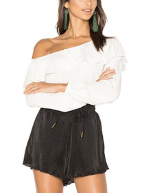 On The Sly Ruffle Off The Shoulder Blouse