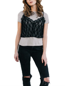 Heidi Cropped Lace Cami