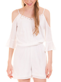 Alberte Cold Shoulder Playsuit