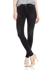 Farrah Skinny High Rise Denim in 4 Years Burnish