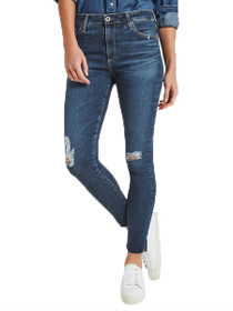 Farrah Skinny Ankle Denim in Interim Destroyed