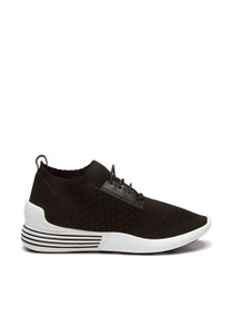 Brandy Woven Fabric Lace-Up Sneaker