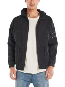Box Hood Oversized Zip Jacket