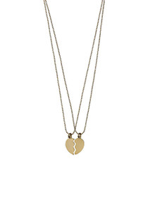 Supernova Split Heart Necklace Set