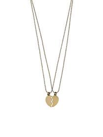 Supernova Split Heart Necklace Set
