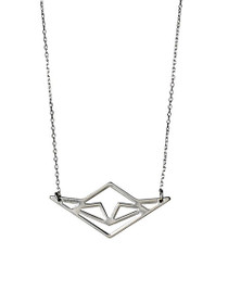 Pluto Geometric Pendant Necklace