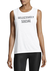Selectively Social Graphic Muscle Tank