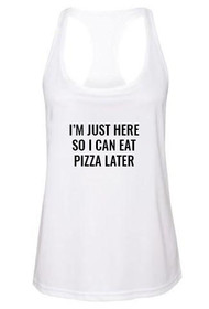 Pizza Later Graphic Active Tank