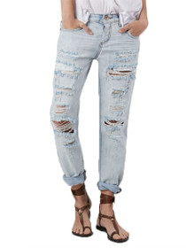 Awesome Baggies Distressed Boyfriend Denim in Hamptons